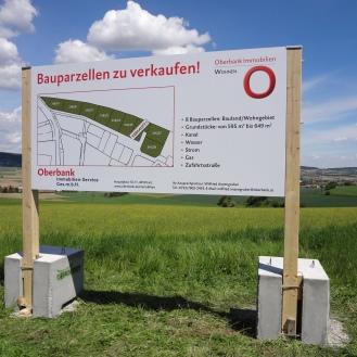 Bautafel Oberbank