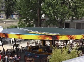 Dachbespannung Strandbar Herrmann